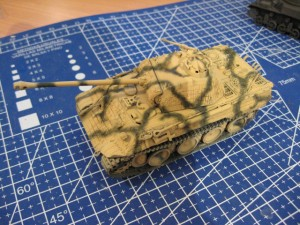 1/72 ESCI Panther Ausf. A tank camo painting