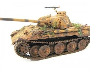 1/72 ESCI Panther Ausf. A tank finished