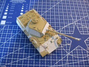 1/72 ESCI Panther Ausf. A tank zimmerit applied