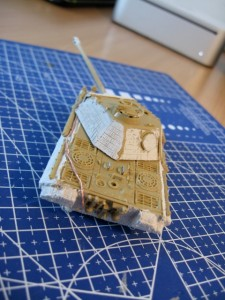 1/72 ESCI Panther Ausf. A tank zimmerit