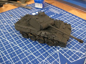 1/72 ESCI Panther Ausf. A tank preshading