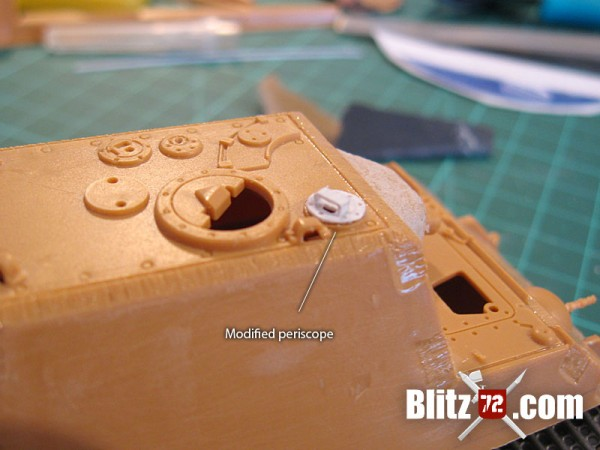 Commander's periscope on Italeri Jagdtiger 1/72 scale model