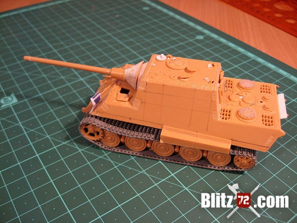 side view of my 331 Jagdtiger scale model