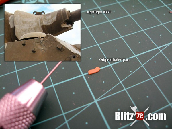 Jagdtiger 331 gun mantlet hoist ring in 1/72