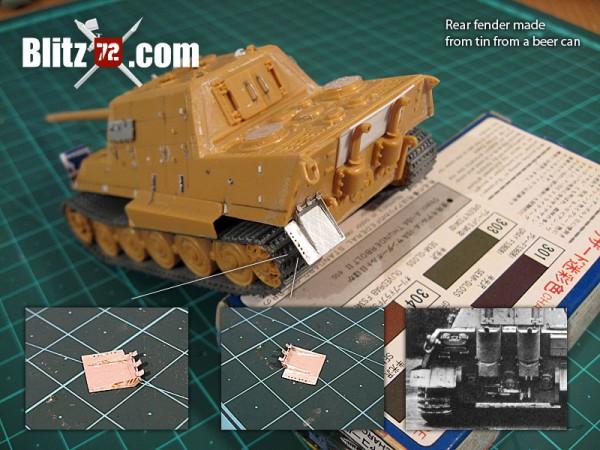 Sracthbuilt 1/72 rear Jagdtiger fender