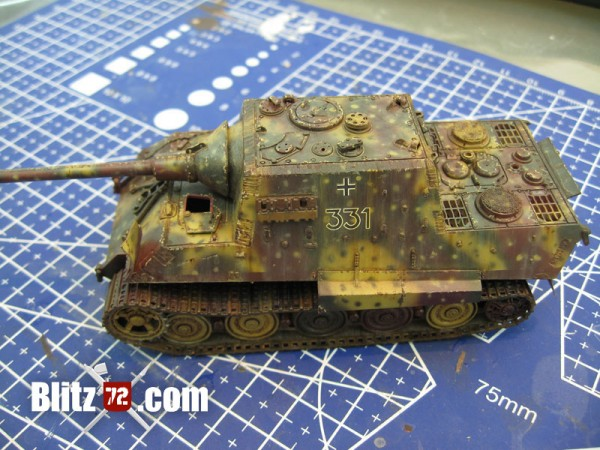 Paint Chipping on 1/72 Jagdtiger