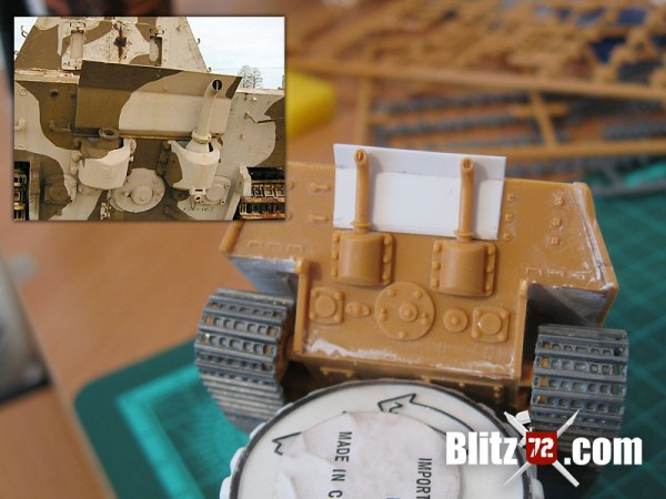 Backplate on Italeri Jagdtiger 331