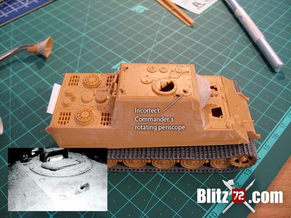 Italeri Jagdtiger commander's periscope scratchbuilt