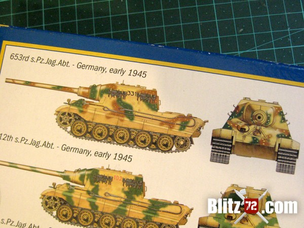 "Italeri Jagdtiger ""331"" paint instructions (wrong)"