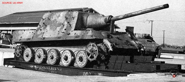 "WW2 jagdtiger ""331"" US army photo"