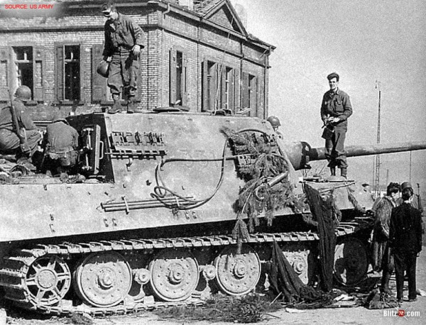 WW2 picture of captured Jagdtiger 331 (US Army)