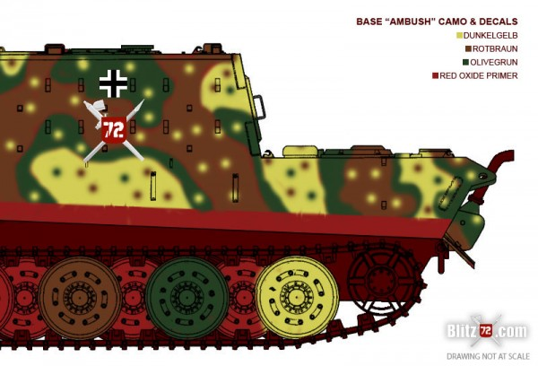 Jagdtiger weathering ambush camo
