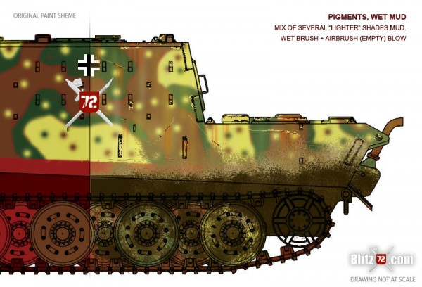 Jagdtiger weathering - wet mud
