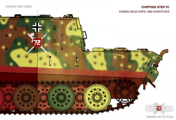 Jagdtiger weathering - chipping