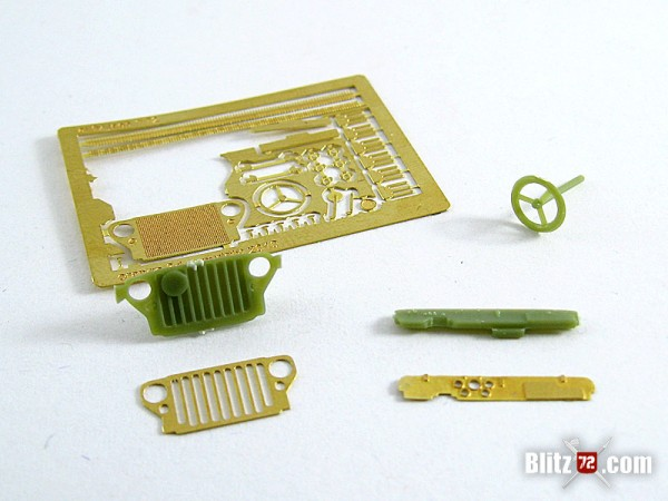 Orange 3D 1/72 Photo-Etch Jeep Upgrade set for Airfix kit