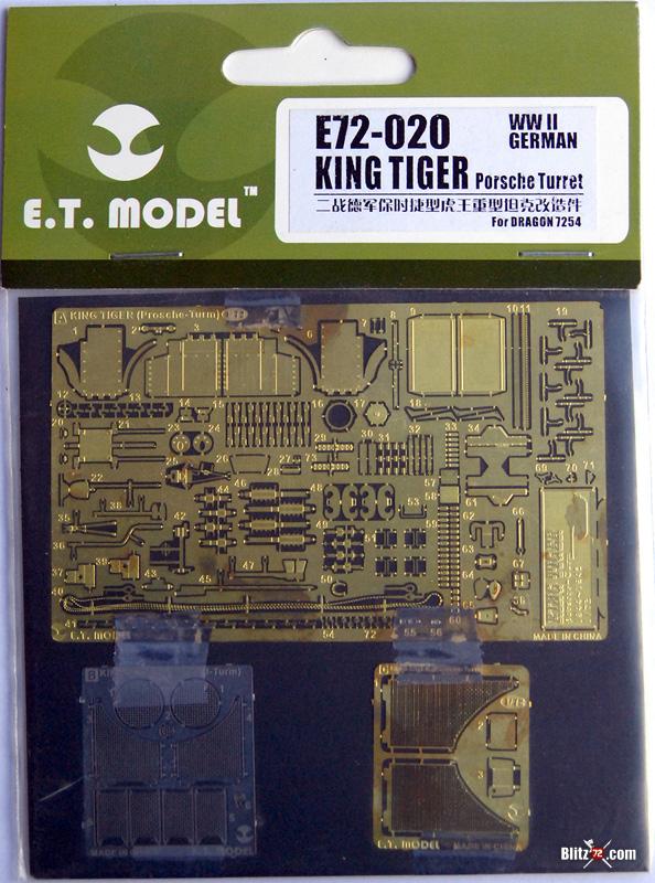 E.T. Model's E72-020 photo-etch set for Dragon's King Tiger