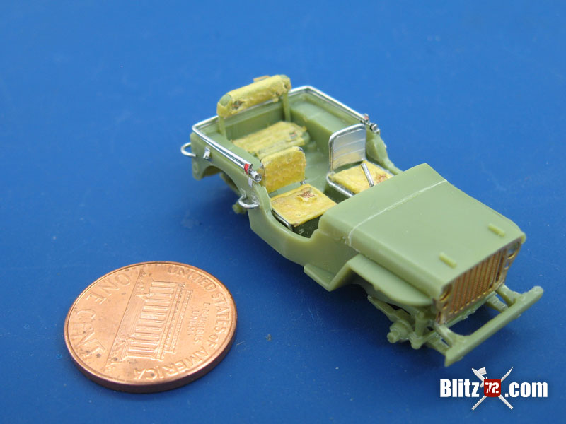 WIP: Airfix 1/72 Jeep Willys upgrade