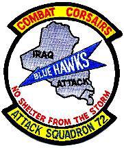 VA-72 Blue Hawks Desert Storm Patch