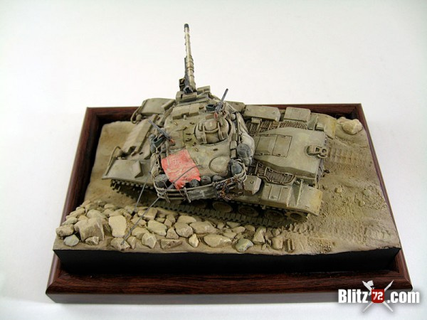 1/72 IDF Magach tank model by Jose Teixido