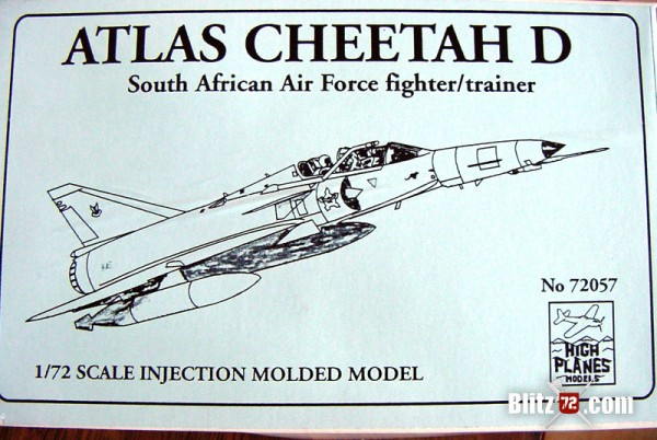 High Planes Atlas Cheetah 1/72 model kit