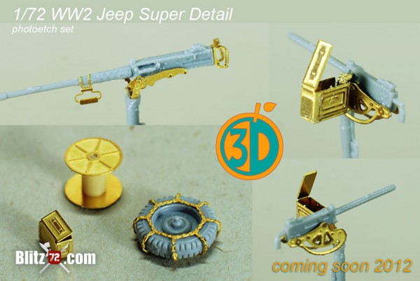 Orange 3D 1/72 jeep photo etch set
