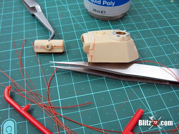 Revell 1/72 Panther Ausf. G welding beads