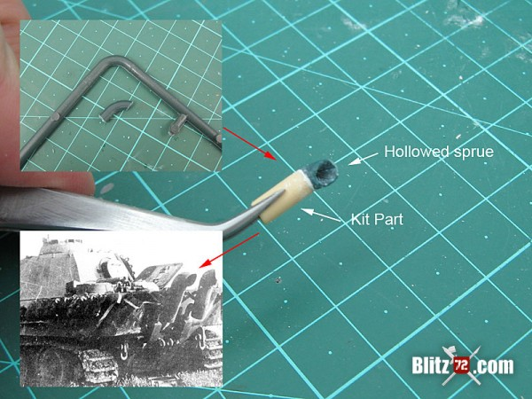 Revell 1/72 Panther tank hull improvements