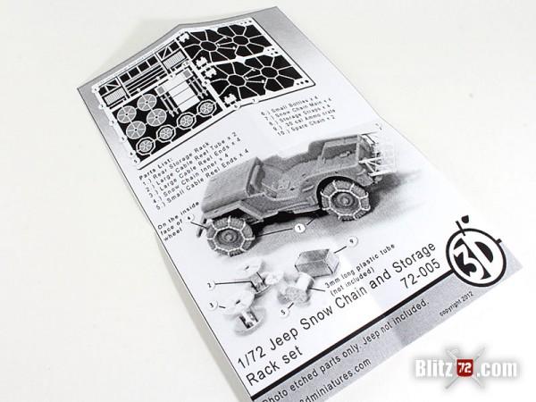 Orange 3D #72-005 Jeep Snow Chain & Storage Rack Set