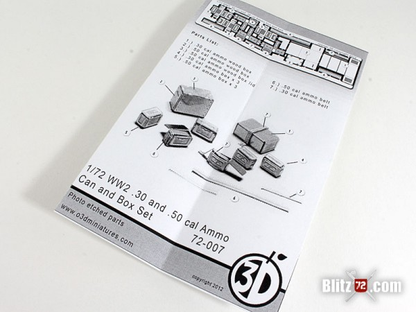 Orange 3D #72-007 WW2 .30 & .50 cal Ammo Can & Box set