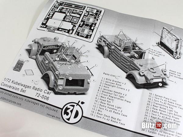 Orange 3D #72-006 Kubelwagen Radio Car Conversion Set
