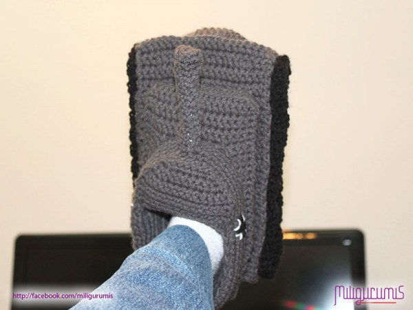 Panzer Tank Slipper Crochet Pattern