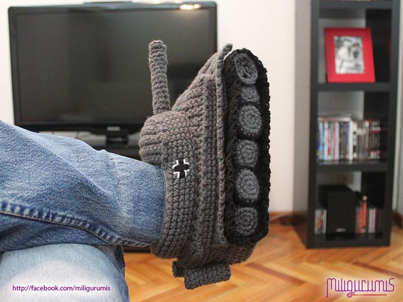 Panzer Tank Slippers In Crochet Pattern Blitz72