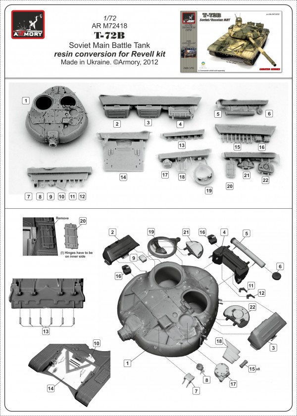 T-72B resin conversion from ARMORY item ARM72418