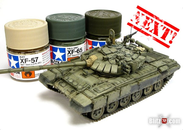 Alex Clark's incredible 1/72 Revell T-72M1 converted to T-72B 1989