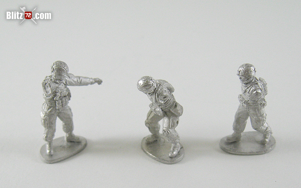 Vepa Miniatures 1/72 U.S. Army patrol figures, mortar team, MG m2 - mk19 team