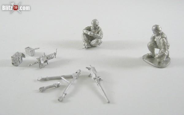 Vepa Miniatures 1/72 U.S. Army patrol figures, mortar team, MG m2 - mk19 team