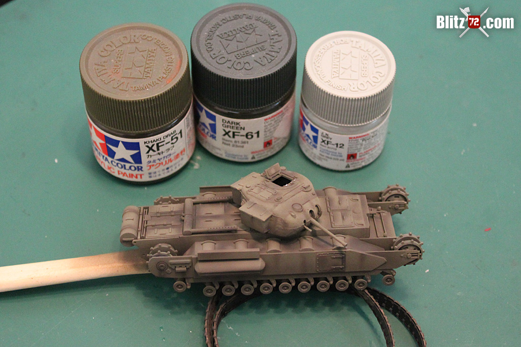 Quick and dirty Churchill MkII Tank 1/72 model | Blitz72 com